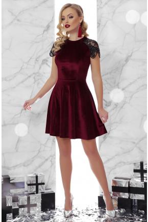 платье Диана к/р. Цвет: бордо