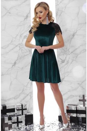 платье Диана к/р. Цвет: изумруд
