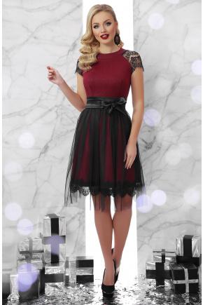 платье Тиана  к/р. Цвет: бордо