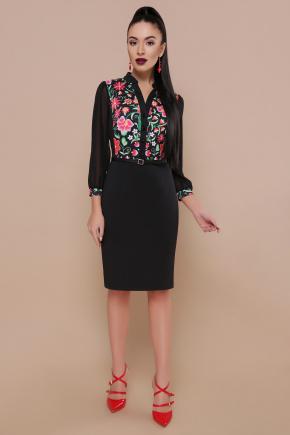 Ромашки платье Лилианна д/р. Цвет: черный