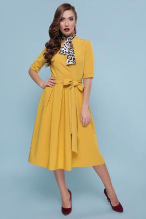 платье Ангелина к/р. Цвет: горчица