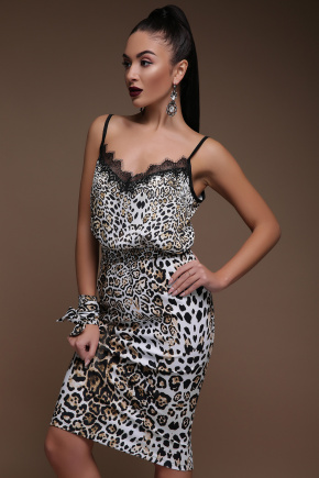 Леопард юбка Алина. Цвет: принт