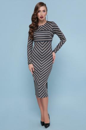 Полоски платье Лилу д/р. Цвет: черный