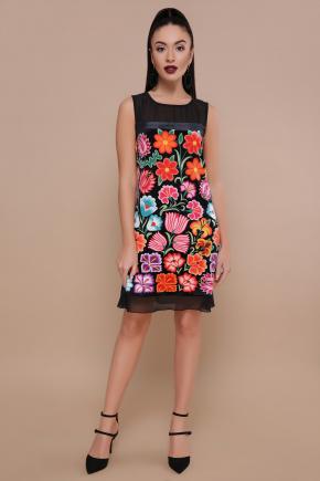 Цветочная феерия платье Эдита б/р. Цвет: черный