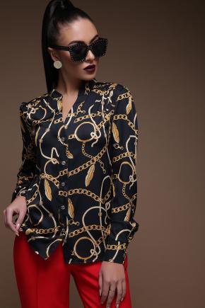 Перья-цепи блуза Эльвира д/р. Цвет: принт