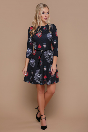 Подвески сердце платье Глория К д/р. Цвет: черный