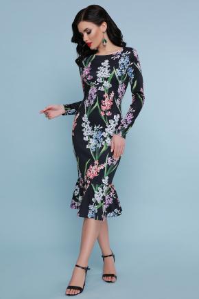 Гиацинты платье Фаина д/р. Цвет: черный