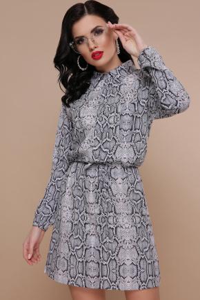 Питон платье Азиза д/р. Цвет: принт