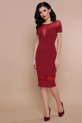 платье Владана 2 к/р. Цвет: бордо