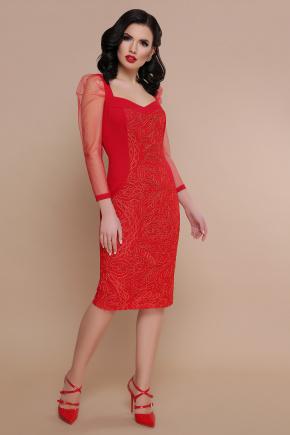 платье Памела 2 д/р. Цвет: красный