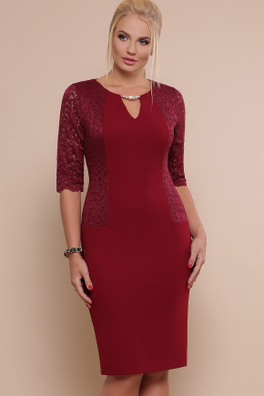 платье Адина-Б д/р. Цвет: бордо