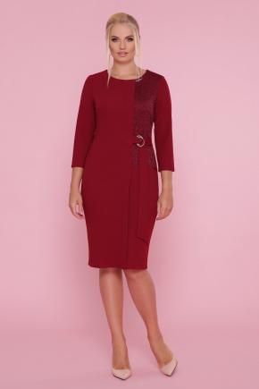 платье Делия-Б 3/4. Цвет: бордо