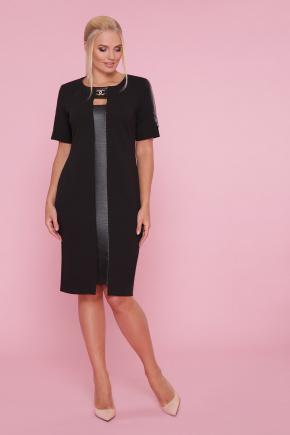 платье Алия-Б к/р. Цвет: черный-черная отделка