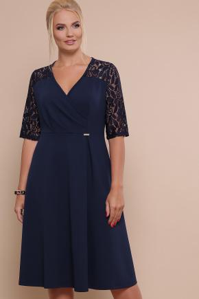 платье Ида-Б к/р. Цвет: синий