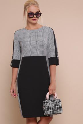 платье Рубина-Б 3/4. Цвет: черный-серая клетка