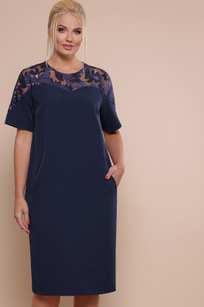 платье Адель-Б к/р. Цвет: синий