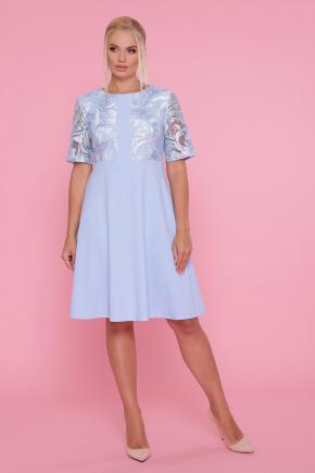 платье Герда-Б к/р. Цвет: голубой