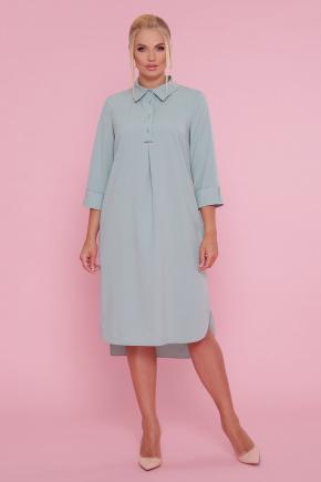 платье-рубашка Власта-Б 3/4. Цвет: оливковый