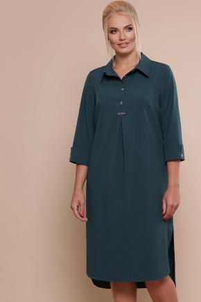 платье-рубашка Власта-Б 3/4. Цвет: изумруд