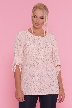 блуза Веста-Б 3/4. Цвет: персик-серый горох