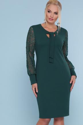 платье Нелли-Б д/р. Цвет: изумруд