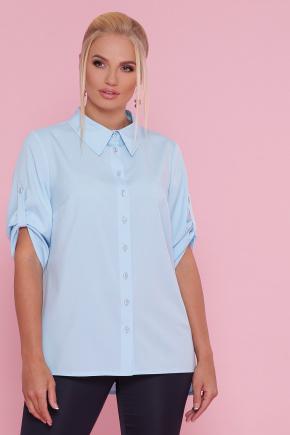 блуза Лана-Б к/р. Цвет: голубой