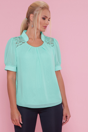 блуза Римма-Б к/р. Цвет: мята