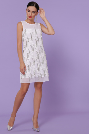 платье Эдина б/р. Цвет: белый