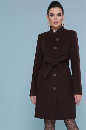 пальто П-333. Цвет: 6099-коричневый