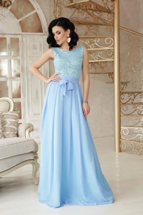 платье Анисья б/р. Цвет: голубой