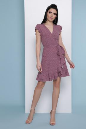 платье София б/р. Цвет: бордо-белый м.горох