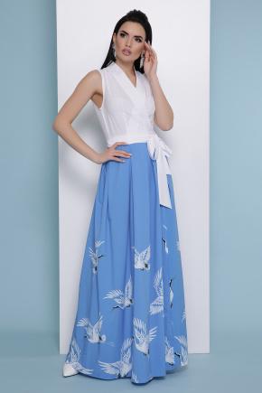 голубой Аисты платье Асия б/р. Цвет: белый