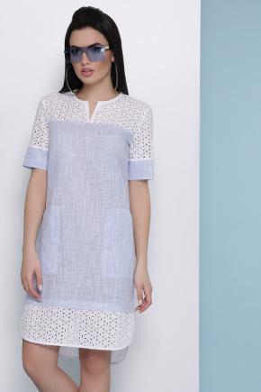 платье Сати к/р. Цвет: голубой
