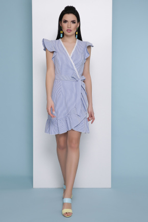 платье Алсу б/р. Цвет: синяя м. полоска