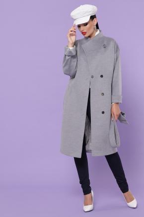 Пальто П-366-100. Цвет: серый
