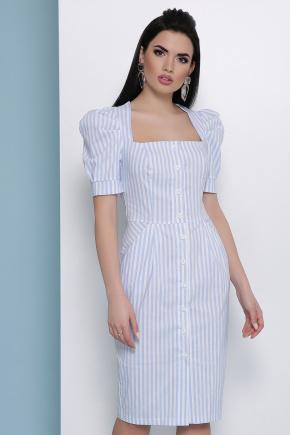 платье Риана к/р. Цвет: голубая полоска