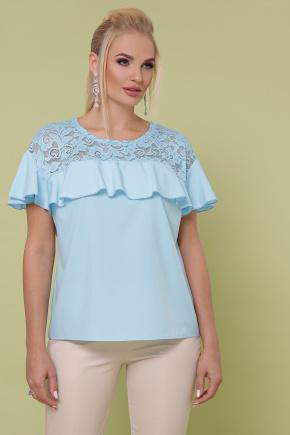 блуза Мелания-Б к/р. Цвет: голубой