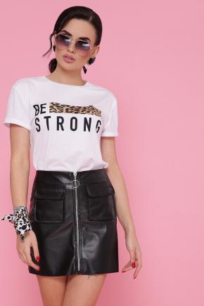 Леопард-полоска футболка Boy-2. Цвет: белый