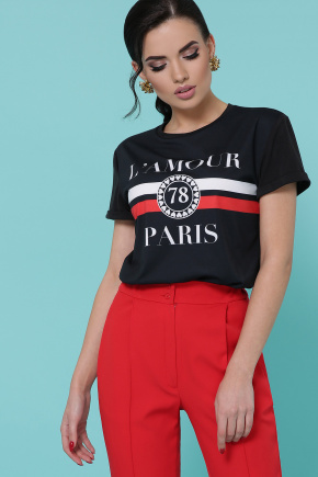 Lamour футболка Boy-2. Цвет: черный