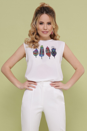 Перья футболка Киви б/р. Цвет: белый