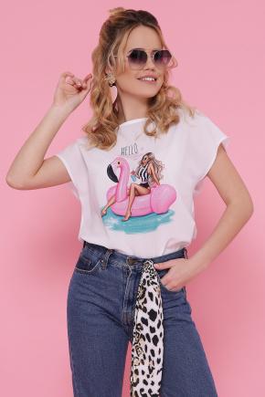 Девушка с кругом блуза Мира-2 б/р. Цвет: белый