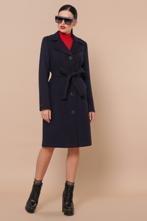 Пальто П-316-100-К. Цвет: синий