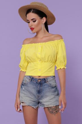 блуза Янина к/р. Цвет: желтый