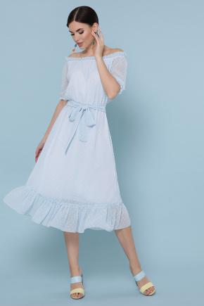 платье Устинья  к/р. Цвет: голубой