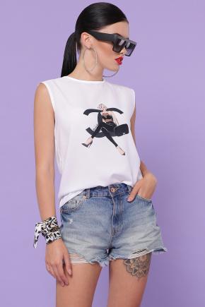 Chanel girl футболка Киви б/р. Цвет: белый
