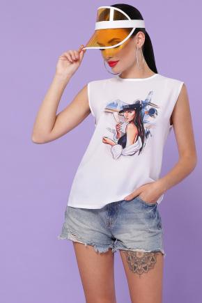 Стюардесса футболка Киви б/р. Цвет: белый