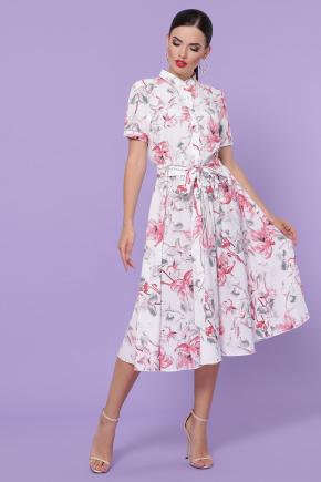 платье Изольда к/р. Цвет: белый-крупный цветок