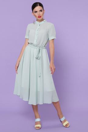 платье Изольда-2 к/р. Цвет: оливковый