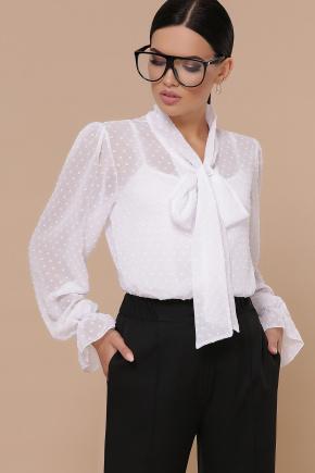 блуза Офелия д/р. Цвет: белый