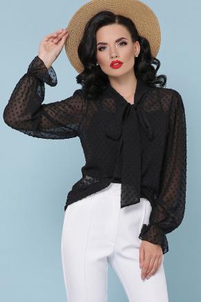 блуза Офелия д/р. Цвет: черный